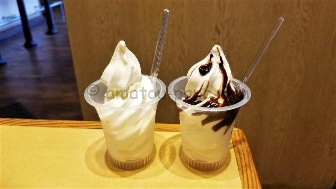 丸源ラーメンのソフトクリーム