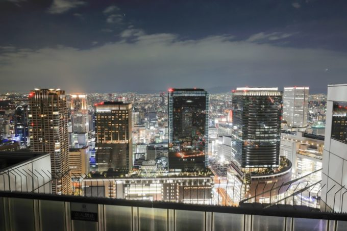 梅田スカイビル・空中庭園展望台からの夜景