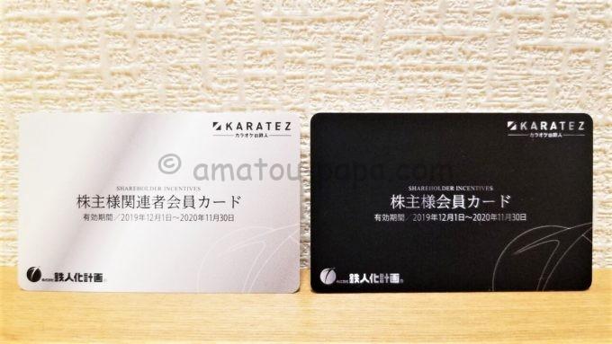 株式会社鉄人化計画の株主会員カード