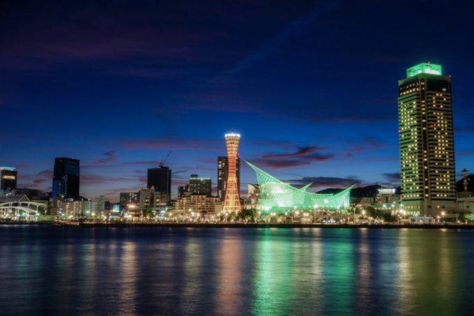 神戸ポートタワー方面の夜景