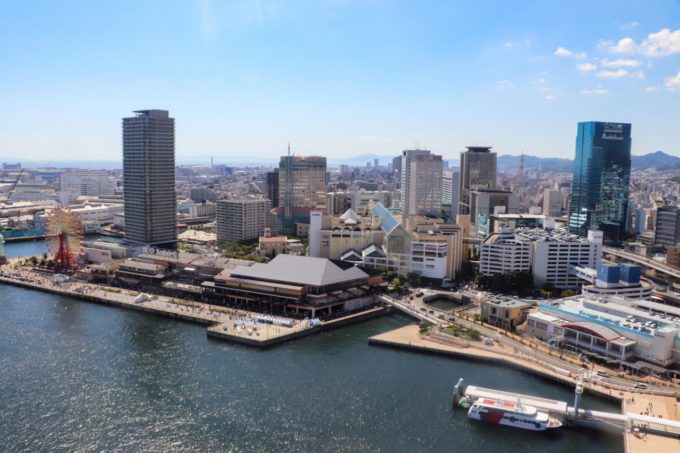 神戸ポートタワーからの景色(モザイク方面)