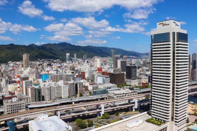 神戸ポートタワーからの景色