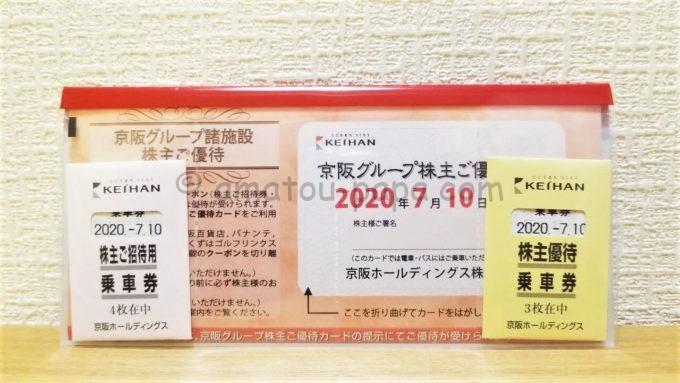 京阪ホールディングス株式会社の株主優待一式