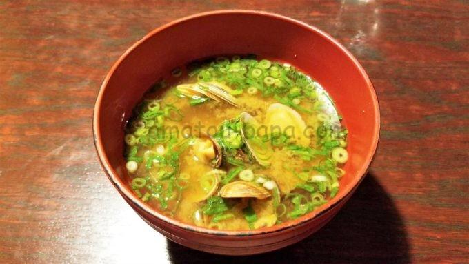 魚鮮水産のあさりの味噌汁