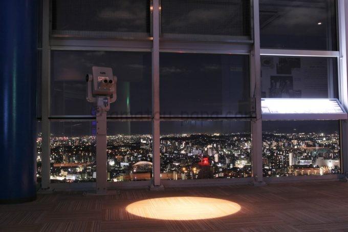 福岡タワーの夜の雰囲気