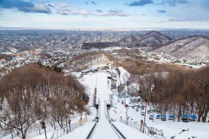札幌大倉山展望台からの眺め(冬)