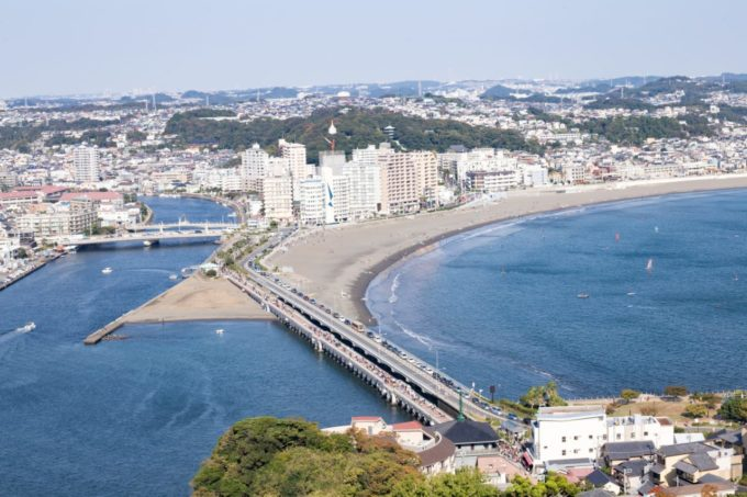 江の島シーキャンドル(展望灯台)からの眺め
