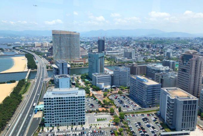 福岡タワーからの眺め(東方面)