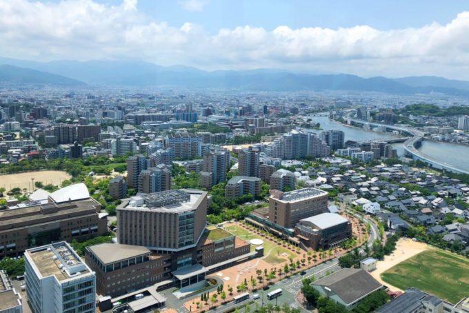 福岡タワーからの眺め(南方面)