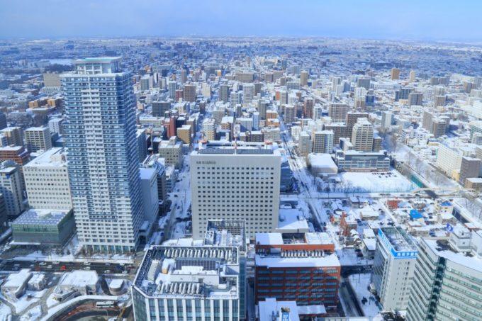 札幌 JRタワー展望室T38(タワー・スリーエイト)からの眺め(冬)