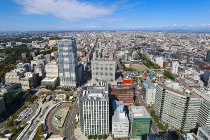 札幌 JRタワー展望室T38(タワー・スリーエイト)からの眺め