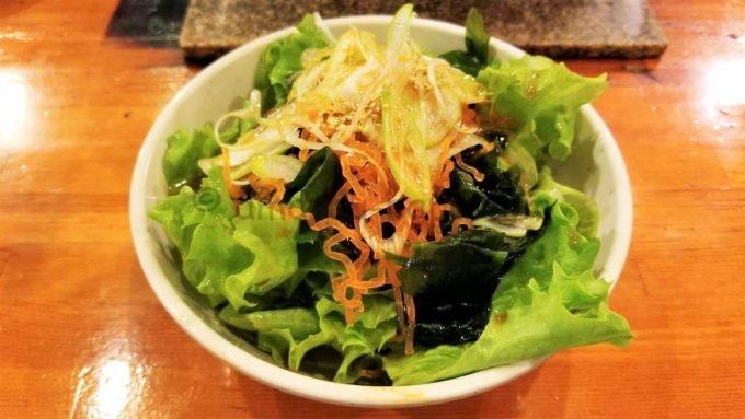 七輪焼肉 安安のチョレギサラダ