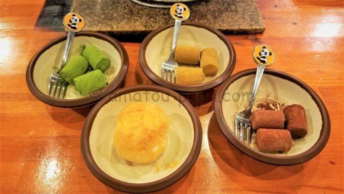 七輪焼肉 安安のデザート(シューアイスなど)