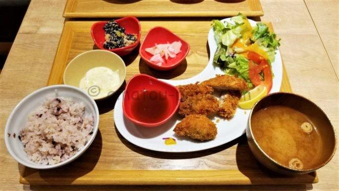 和ごはんとカフェchawanの広島県産牡蠣フライとやわらかひれかつ