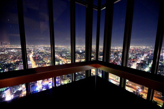 ミッドランドスクエア スカイプロムナード(屋外展望台)の雰囲気と夜景