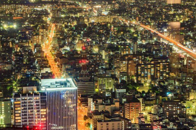 ミッドランドスクエア スカイプロムナード(屋外展望台)から名古屋市街を眺める