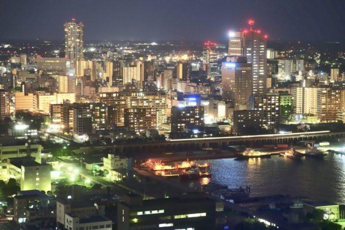 千葉ポートタワーからの眺め(夜景)