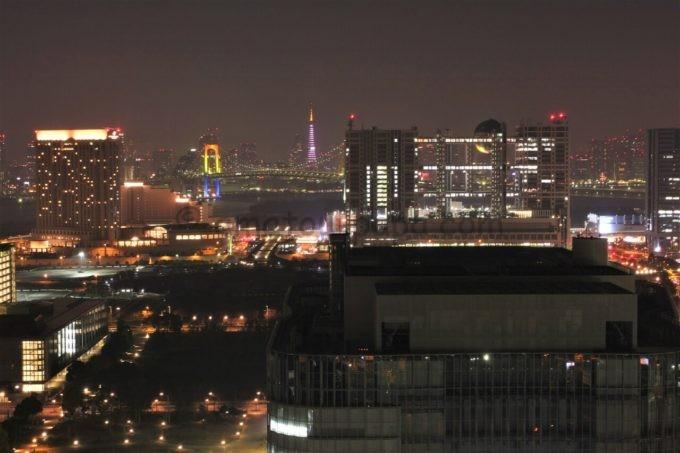 テレコムセンター展望台からの夜景(フジテレビ方面)