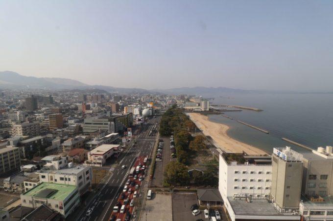 別府タワーからの眺め(別府湾方面)
