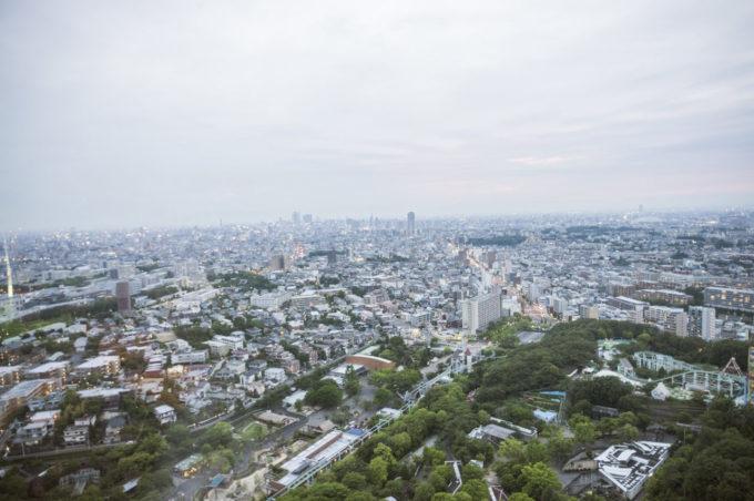 東山スカイタワーからの眺め