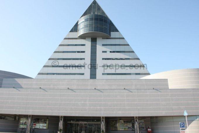 青森県観光物産館アスパムの外観