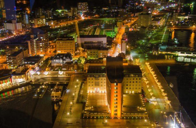 門司港レトロ展望室からの夜景