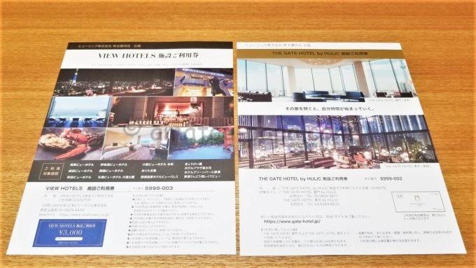 ヒューリック株式会社の株主優待品企画(「VIEW HOTELS施設ご利用券」、「THE GATE HOTEL by HULIC 施設ご利用券」)