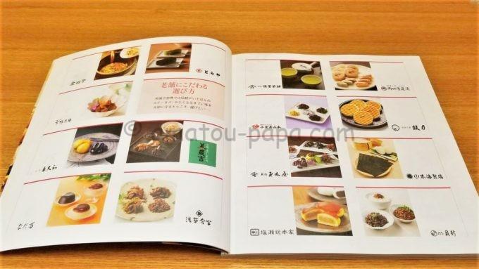 ヒューリック株式会社の株主優待カタログの中身(老舗ブランド)