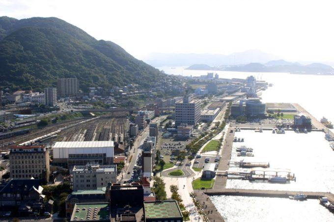 門司港レトロ展望室からの眺め