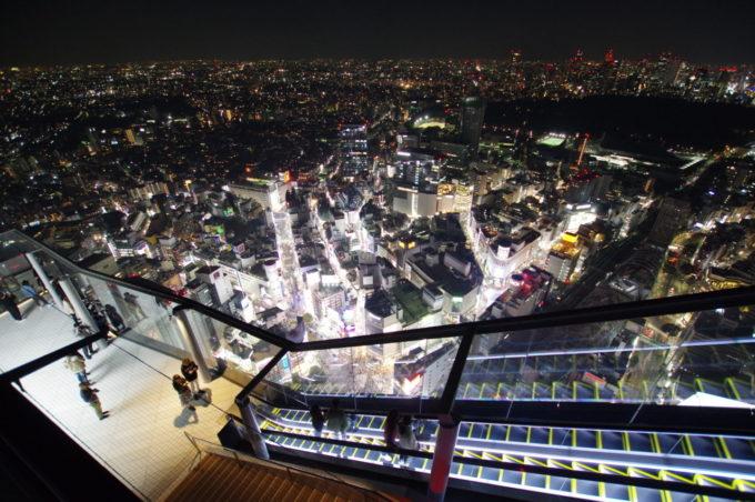 渋谷スクランブルスクエアの展望台「渋谷スカイ」の夜景