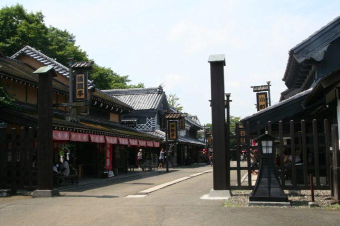 登別伊達時代村の商家街の入り口