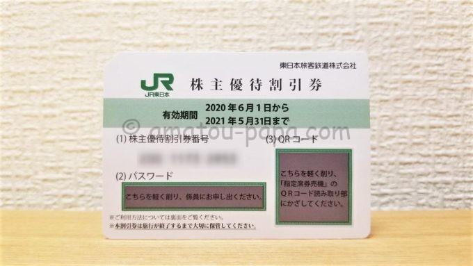 東日本旅客鉄道株式会社(JR東日本)の株主優待割引券