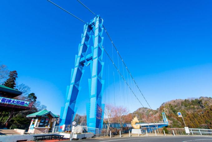竜神大吊橋の入り口