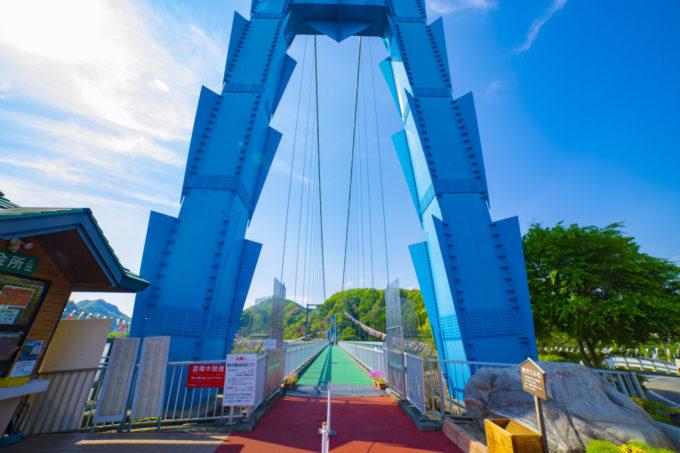 竜神大吊橋の入り口(竜神峡鯉のぼりまつり)