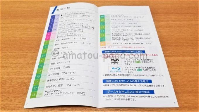 株式会社ハピネットの株主優待カタログ(商品一覧)