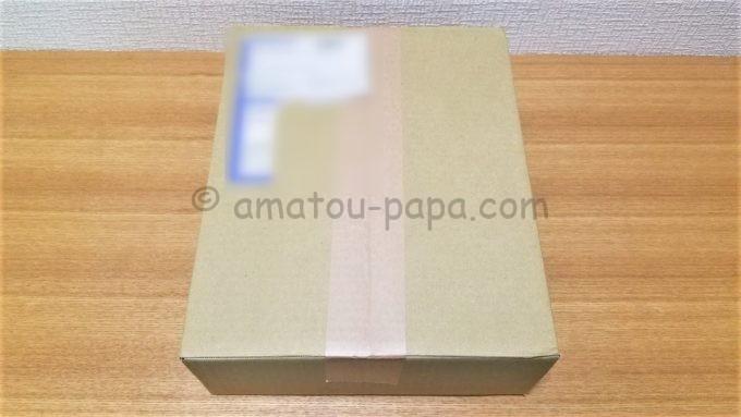株式会社なとりの株主優待品が届いた時の箱