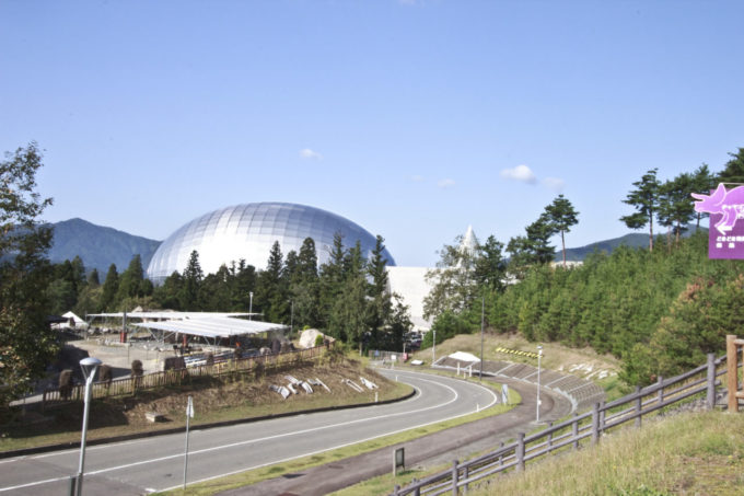 福井県立恐竜博物館の外観