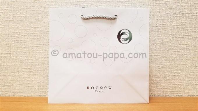 ラグジュアリービール「ROCOCO Tokyo WHITE」のギフト用紙袋