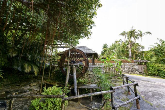 琉球村の水車