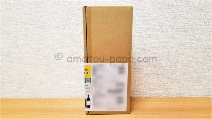 オエノンホールディングス株式会社の2019年度の株主優待品「オリジナル本格芋焼酎 酒女神2020」が入っている箱