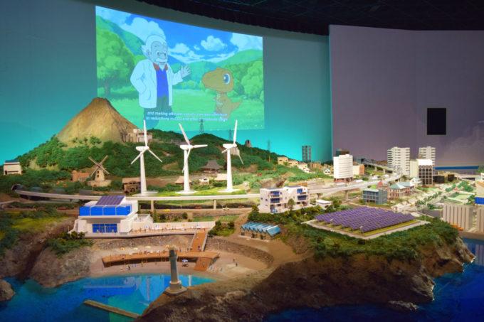 白浜エネルギーランドの驚き映像エリアにある太陽の街