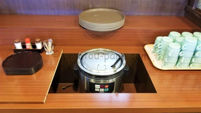 和風レストラン「まるまつ」の無料スープバー