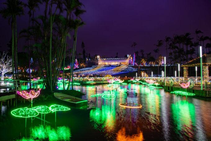 東南植物楽園のライトアップ