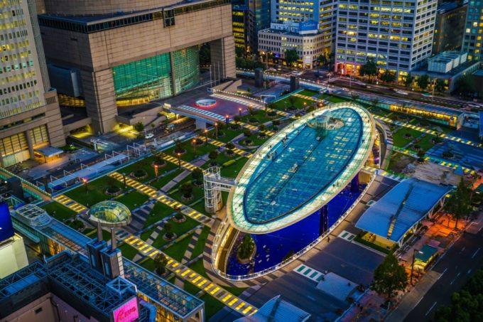 名古屋テレビ塔から眺めるオアシス21
