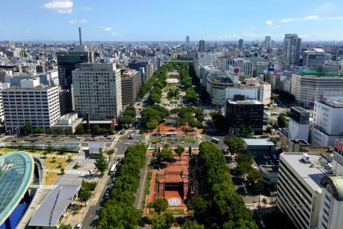 名古屋テレビ塔からの眺望