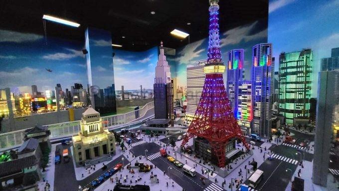 レゴランド・ディスカバリー・センター東京のミニランド(夜景バージョン)
