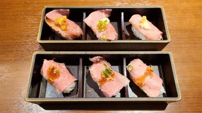 肉匠坂井の肉寿司
