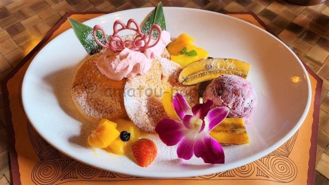 ポリネシアンテラス・レストランのデザートパンケーキ・ドリンクセット