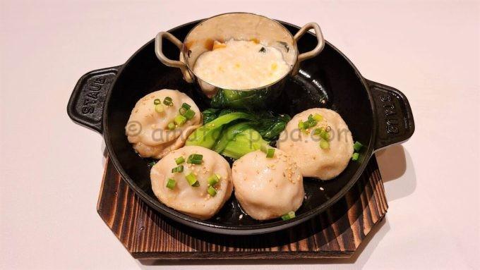 シルクロードガーデンの上海焼き小籠包と南瓜の蟹肉あんかけ