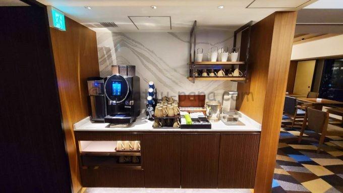 ヒルトン東京のエグゼクティブラウンジのコーヒー